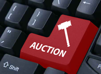 Items can be sold through online auctions