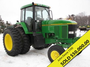 John Deere 7700 at Big Rapids equipment auction results