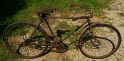 antiques auction photo of a bicycle