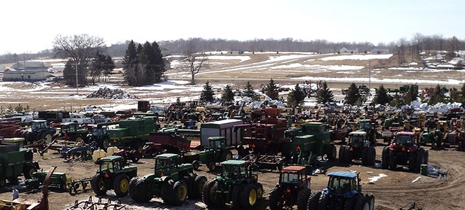 Each Spring 8 auctioneers auction over 500 pieces of farm equipment in Big Rapids, Michigan.