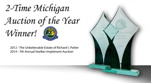 Michigan auction of the year for the estate of Richard Potter and 2014 Voelker Implement Auction