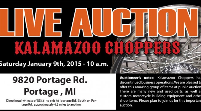 Kalamazoo Michigan – Kalamazoo Choppers LIVE Auction