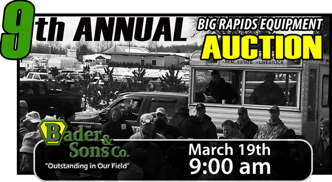 BIG RAPIDS AUCTION – MARCH 19TH