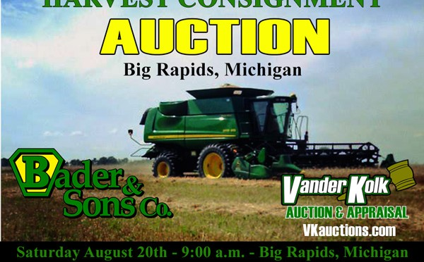 Big Rapids HARVEST AUCTION – August 20th
