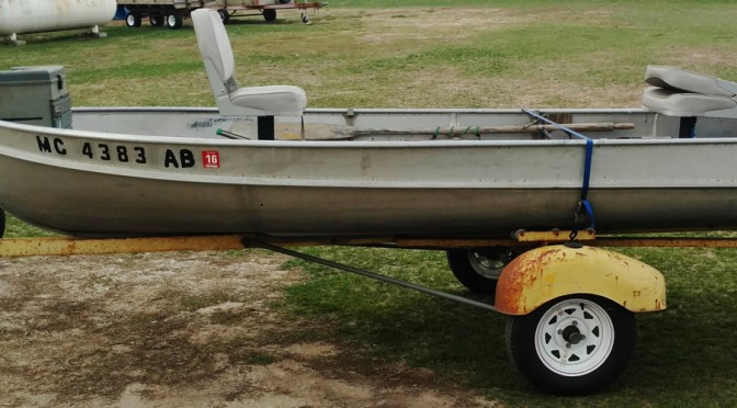 This boat will be sold at the Carl and nancy Perry moving Auction